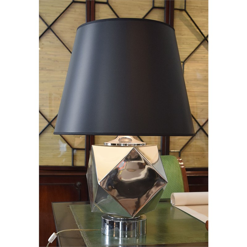 POLISHED CHROME TABLE LAMP, American, 20th century
