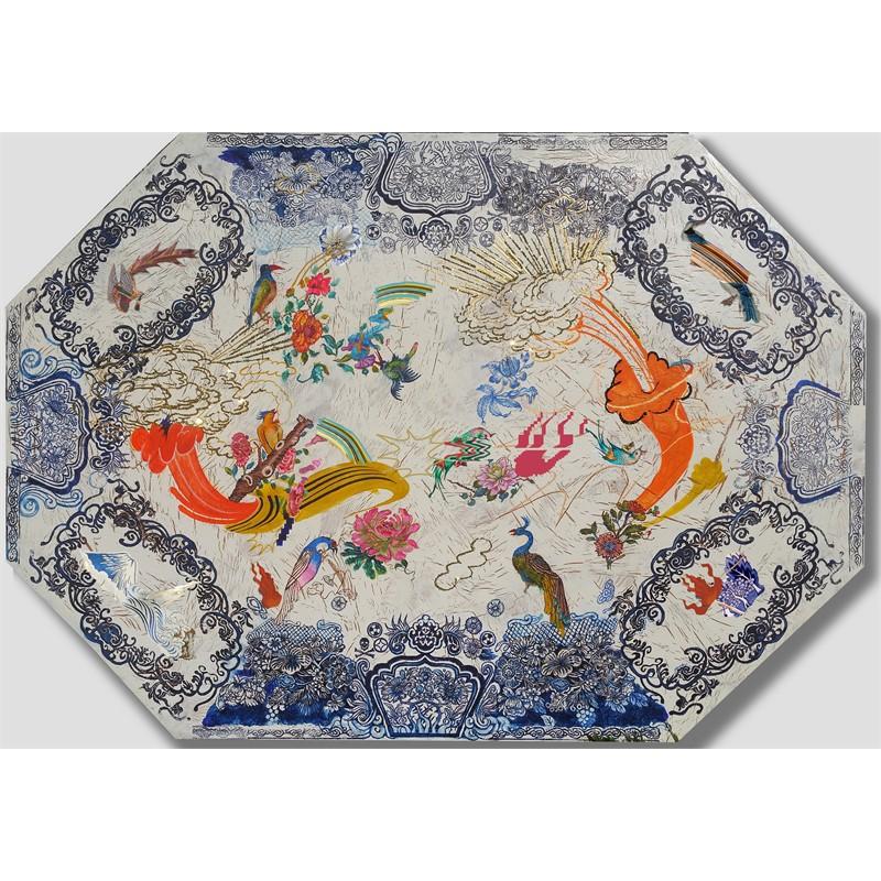 Plate Painting_Bird, 2019