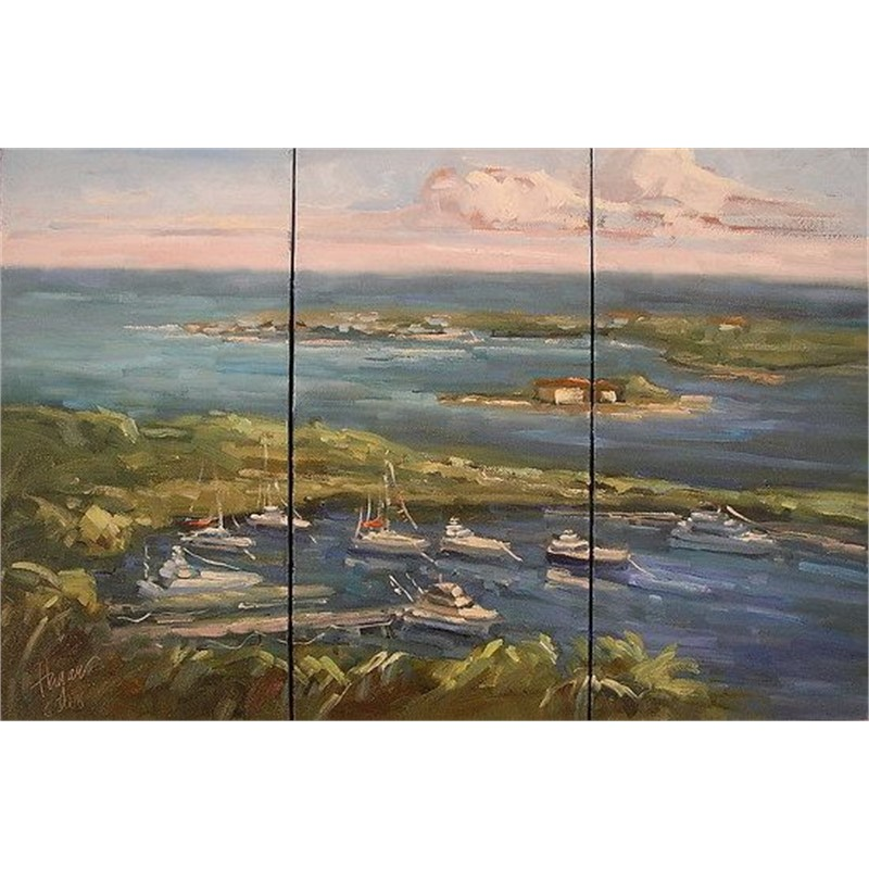 The View from Hope Town Light House (Triptych)