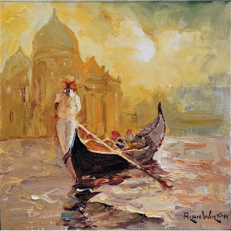 Gondolier in White