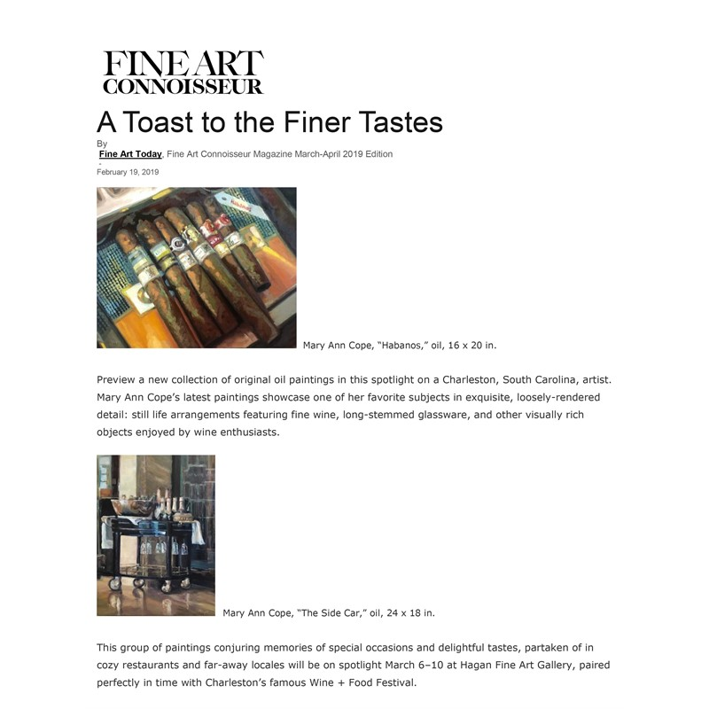 """A Toast to the Finer Tastes"""