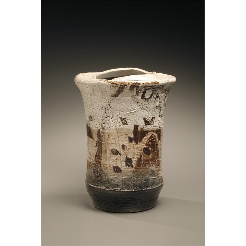 FELDSPAR GLAZED VASE WITH IRON BRUSH, Thai, 2007