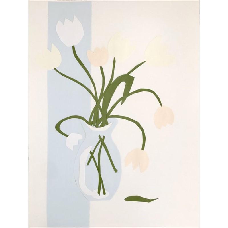Collage, White Tulips I, 2019
