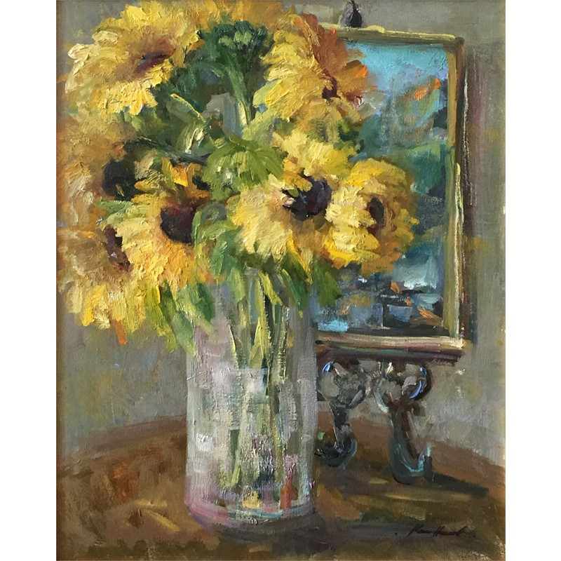 Sunflowers in the Grand Salon