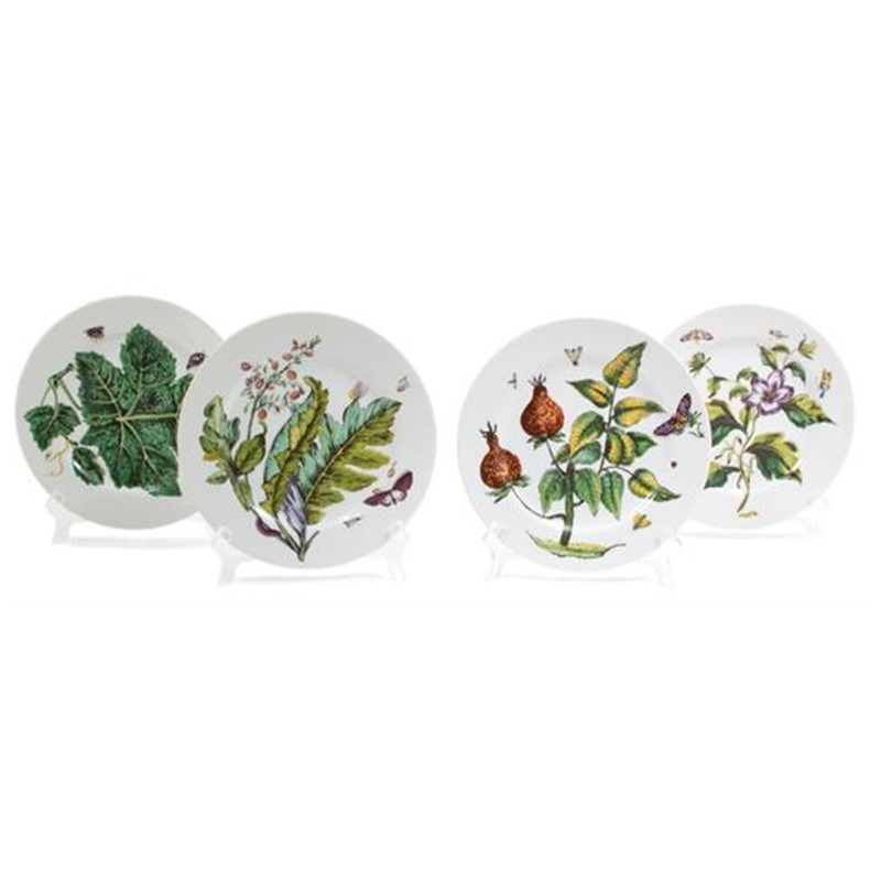 SET OF 12 MOTTAHEDEH PLATES, American, 20th century