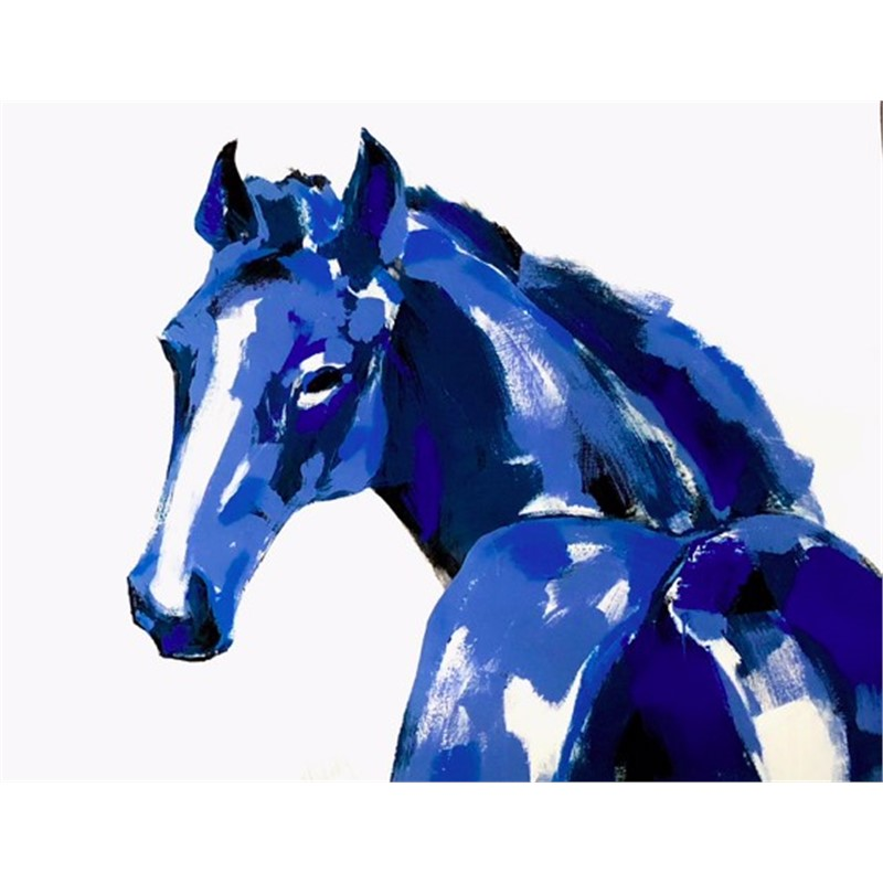 Untitled (Blue Horse), 2018