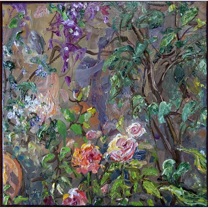 Roses beneath Bougainvillea