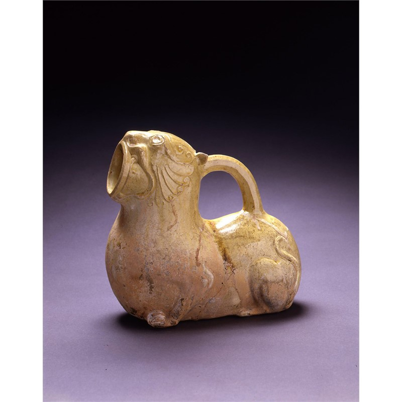SMALL GLAZED LION-FORM EWER, Nothern Dynasties, 3rd-4th century