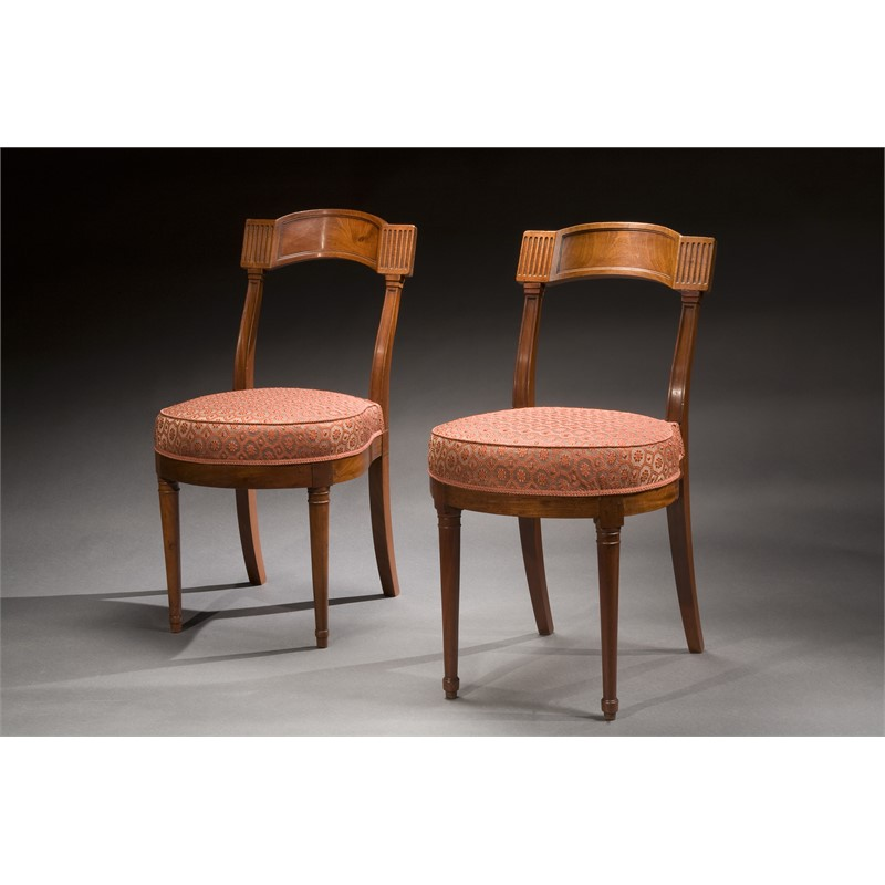 "PAIR OF DIRECTOIRE MAHOGANY ""CHAUFFEUSE"" ATTRIB. TO JACOB, French, late 18th century"