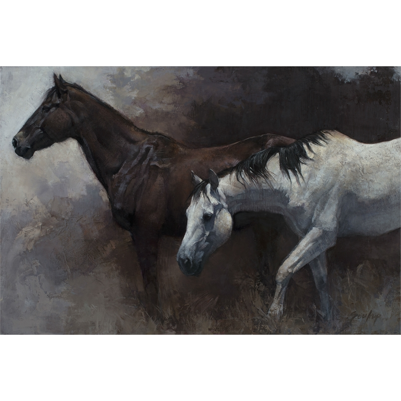 Dark and Light Horses No. 6