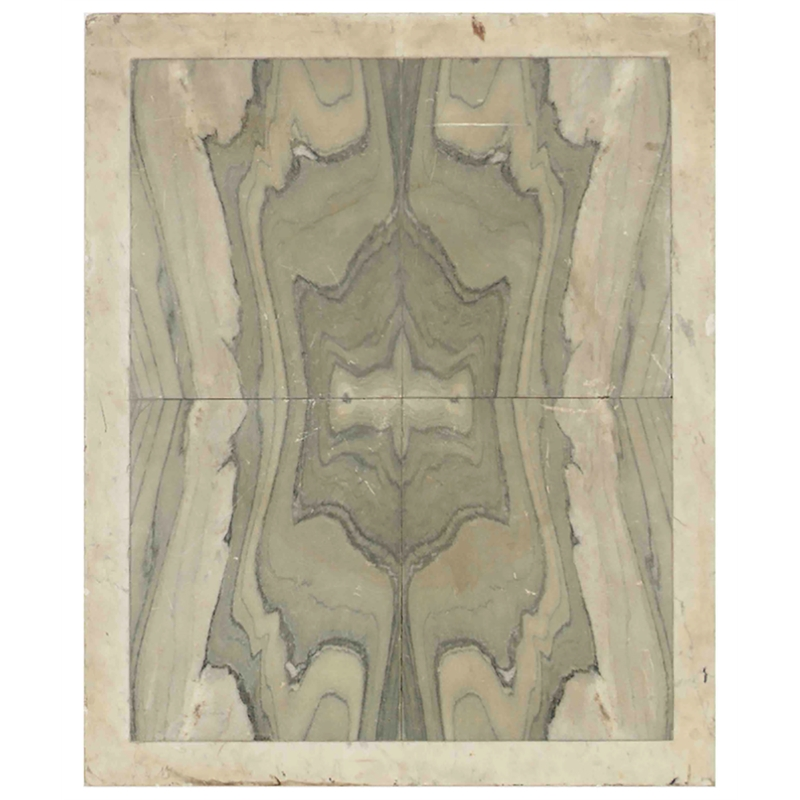 ITALIAN GREEN AND WHITE MARBLE TABLE TOP, Italian