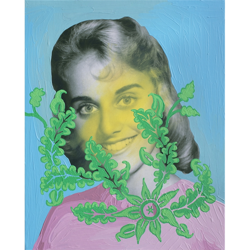 Untitled (Yellow Woman with Green Foliage) by Daisy Patton
