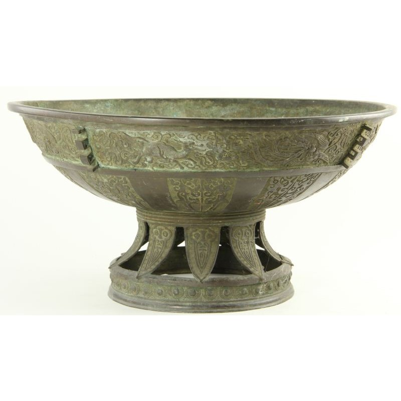 CHINESE BRONZE BRAZIER, Chinese, 19th/20th century