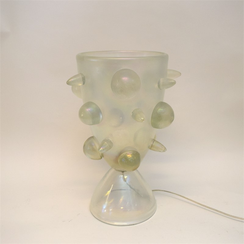 SEGUSO MURANO GLASS TABLE LAMP, Italian, circa 1960