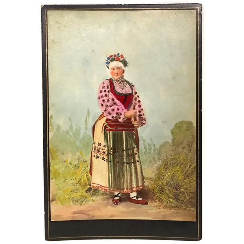 Hungarian Painted Cabinet Card 3, Circa 1880s