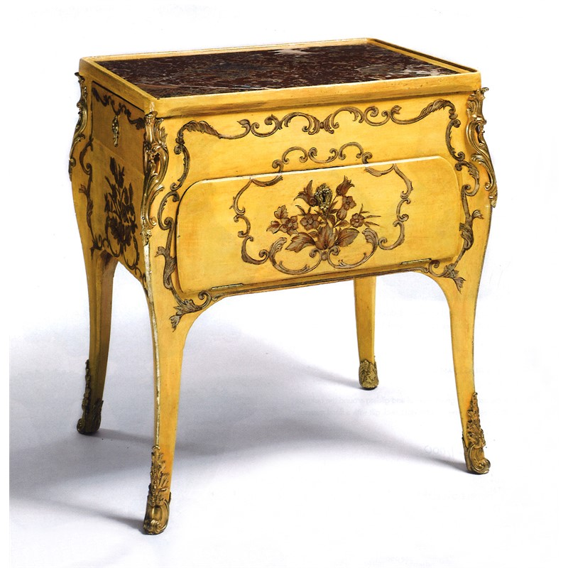 ITALIAN ROCOCO YELLOW PAINTED AND PARCEL GILT COMMODE, Italian, 18th Century