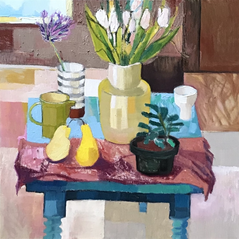 Tulips and Agapanthus , 2020
