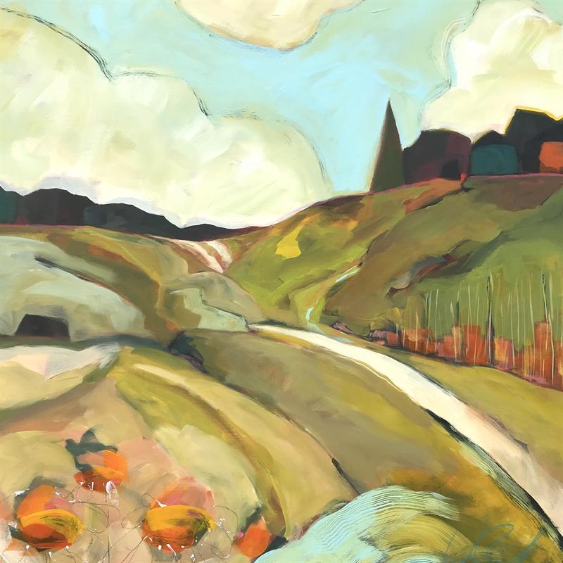Sunflowers and Pine, Blue Ridge Mountains, 2020
