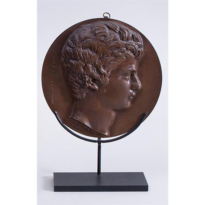 BRONZE RONDEL OF AUGUSTIN PAJOU, French, 1818