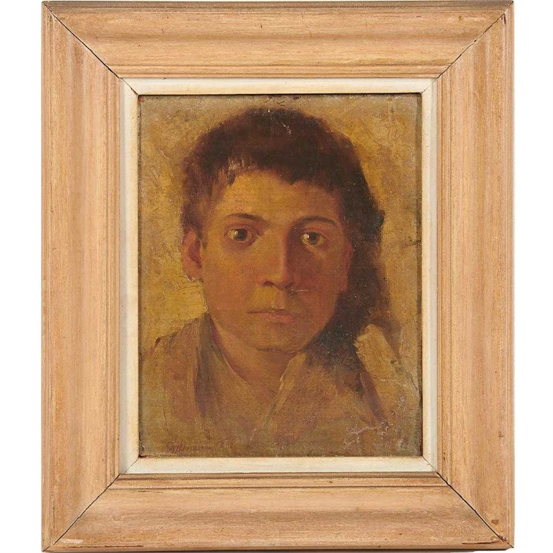 PORTRAIT OF A YOUNG MAN , Italian, 1870