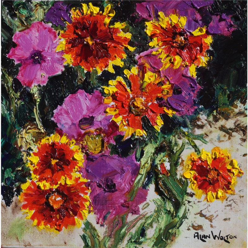 Gillardias and Purple by Alan Wolton