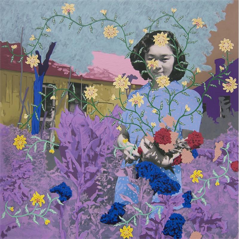 Untitled (Gardener with Bouquet), 2018