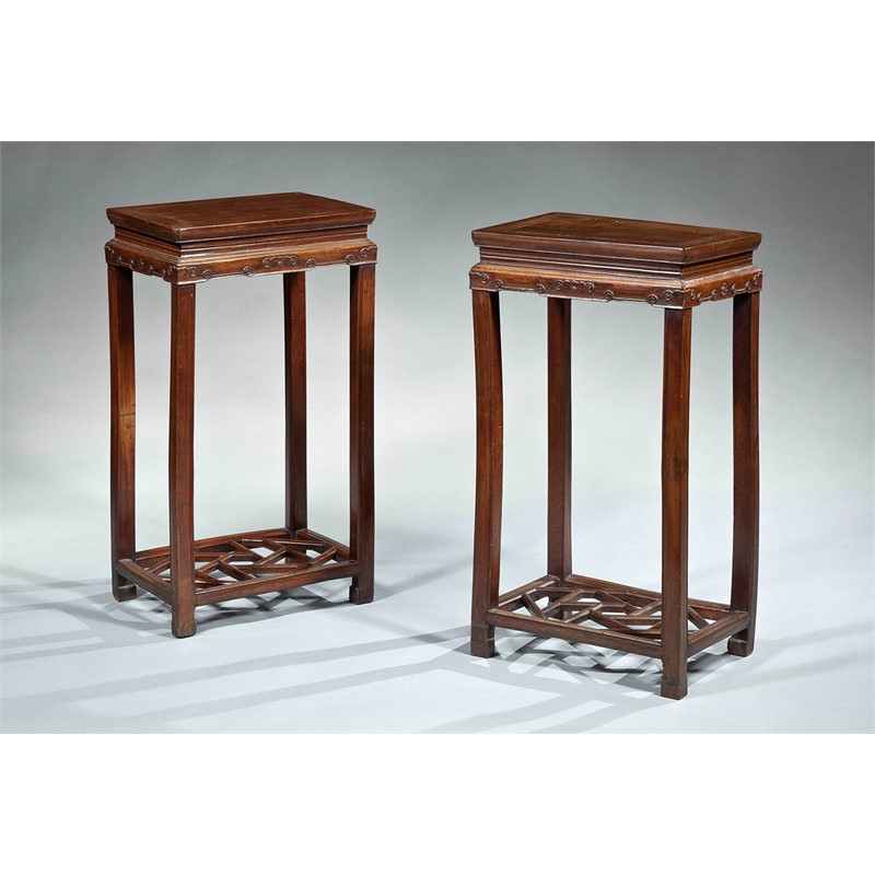 PAIR OF ELM SIDE TABLES, Chinese, 19th century