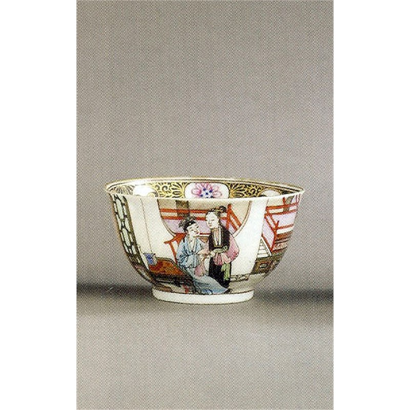 TEABOWL WITH INTERIOR SCENE, Chinese, circa 1740
