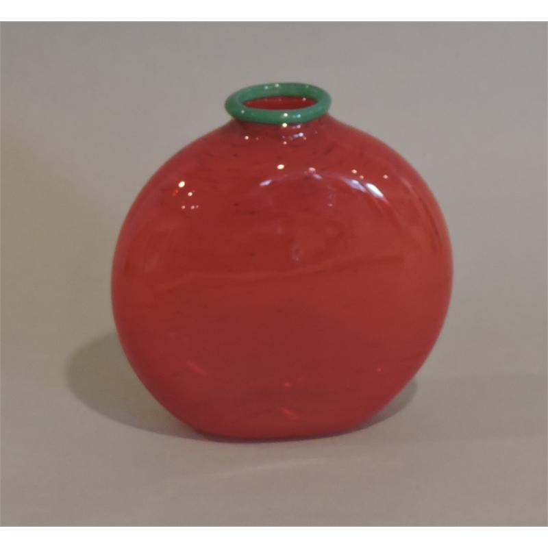 Red/Jade flat vase (Medium)