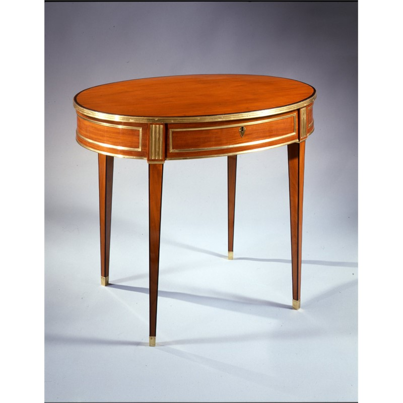 RUSSIAN BRASS MOUNTED MAHOGANY OVAL TABLE, Russian, 19th century