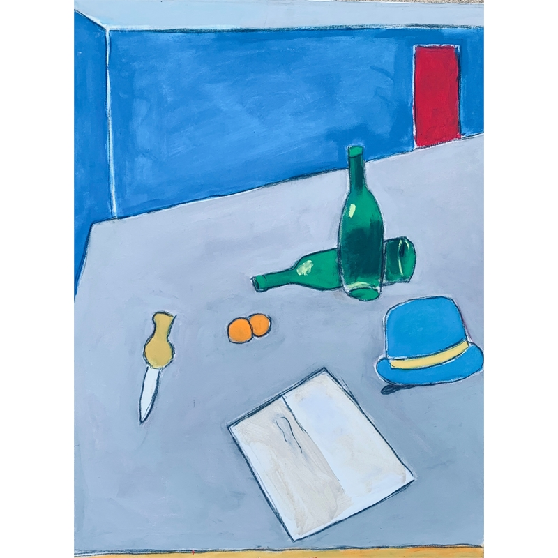 Still life with a hat