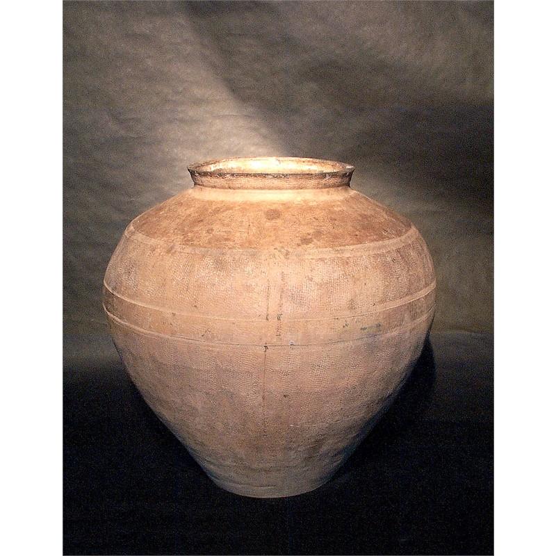 LARGE GREY POTTERY STORAGE JAR, Han Dynasty (206-220)