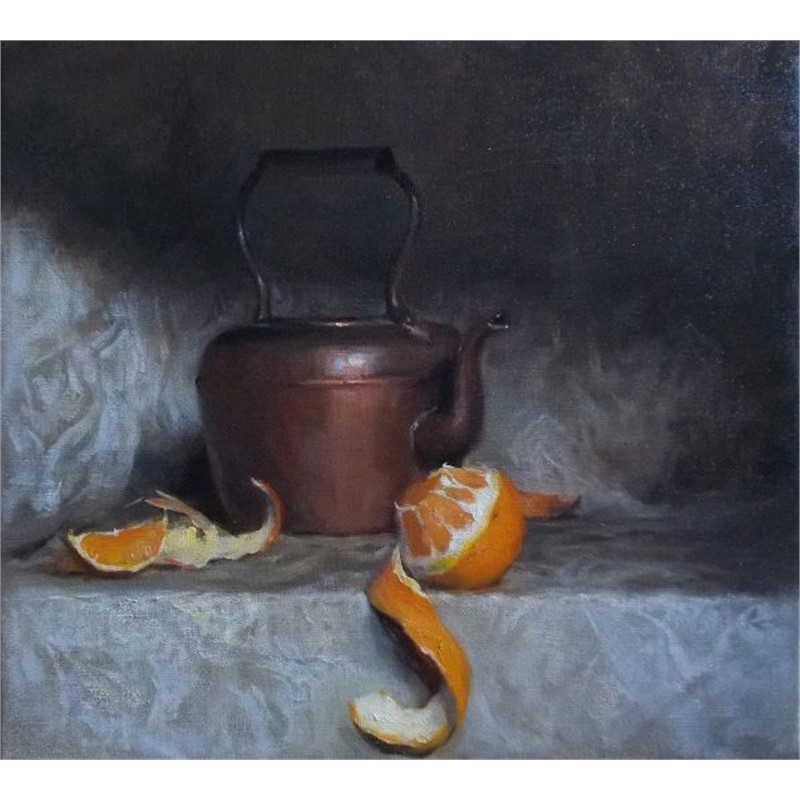 Still Life with Orange Peel