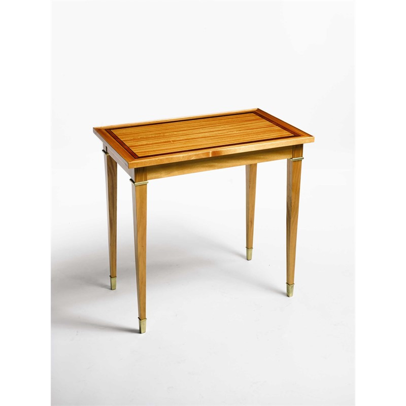 FRENCH DIRECTOIRE STYLE SMALL SATINWOOD SIDE TABLE, French, 20th century