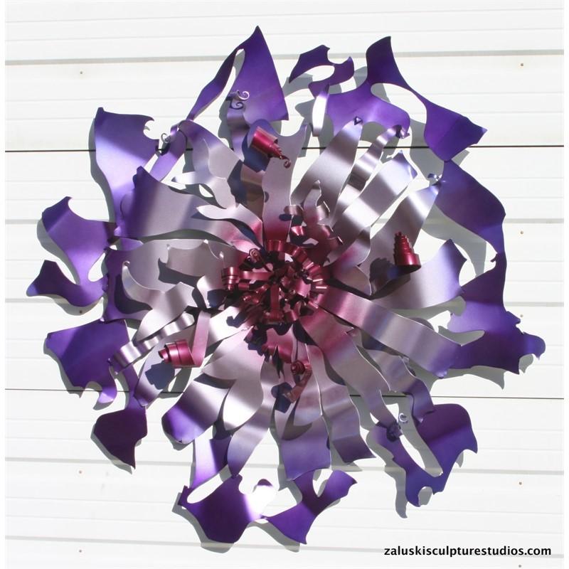 Big Purple Flower Wall