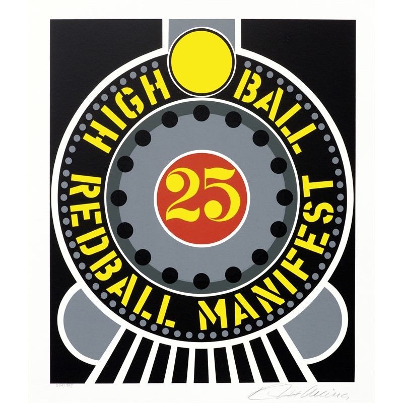 High Ball Red Ball Manifest from the American Dream Portfolio (395/2254), 1997