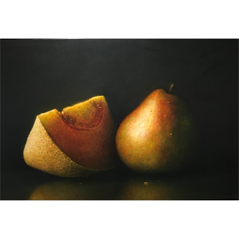 melon slice with sally's pears, 1998