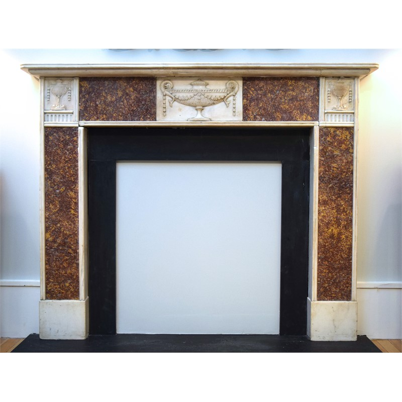 MARBLE FIREPLACE SURROUND, English, 18th/19th century