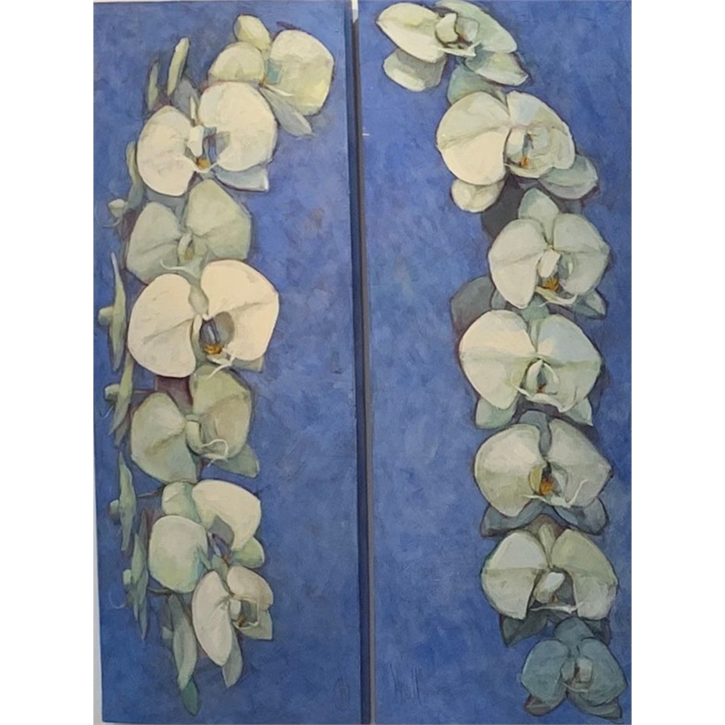 Orchid Garland Diptych