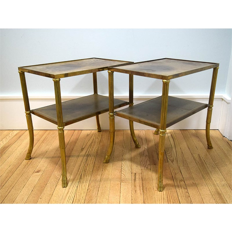 PAIR OF JANSEN LOW TABLES, French, 20th century
