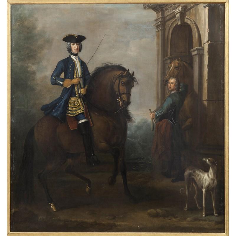 PORTRAIT OF A GENTLEMAN ON HORSEBACK
