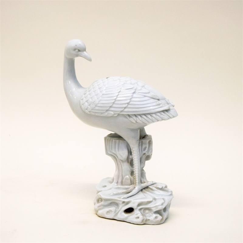 BLANC DE CHINE FIGURE OF A CRANE, Chinese, 18th century