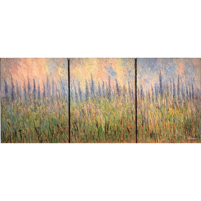 Lavender Triptych by Samir Sammoun