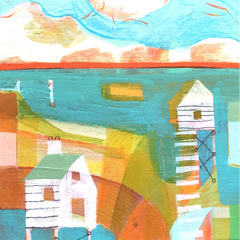 Two Cottages on the shore, 2020