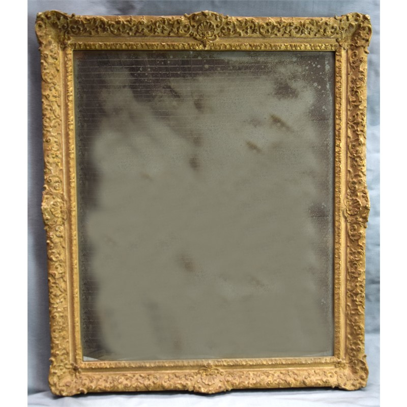 GILTWOOD FRAME WITH MIRROR, French, 19th century
