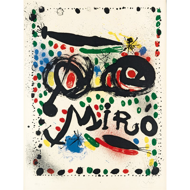 "Poster for the Exhibition ""Joan Miro Graphics"" Philadelphia Museum of Art (127/150), 1966"