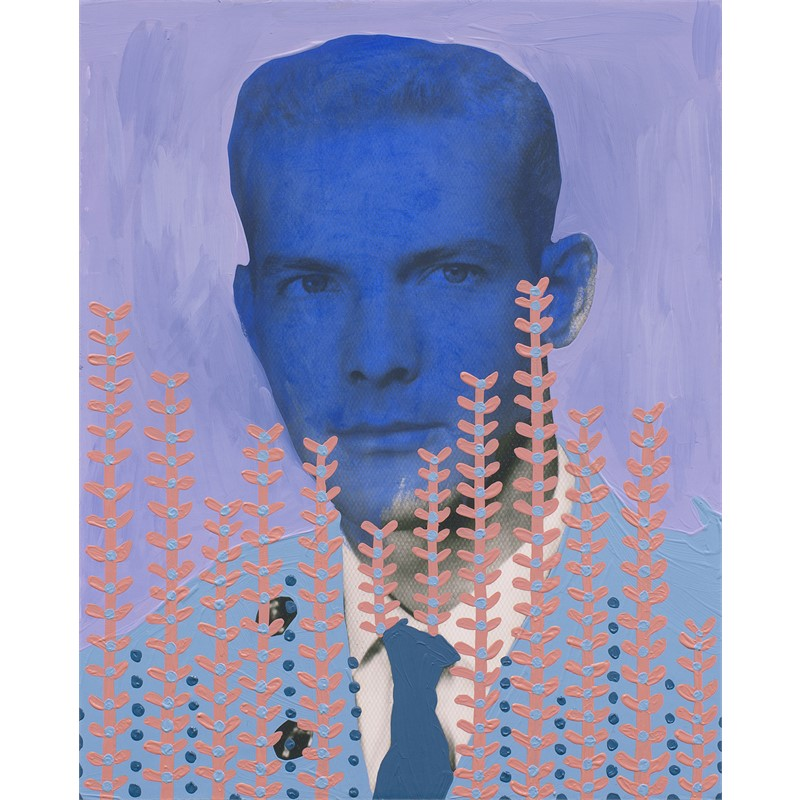 Untitled (Military Man with Blue Face)