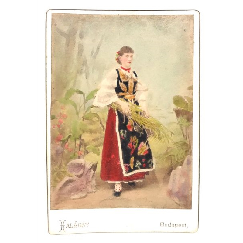 Hungarian Painted Cabinet Card 11, Circa 1880s
