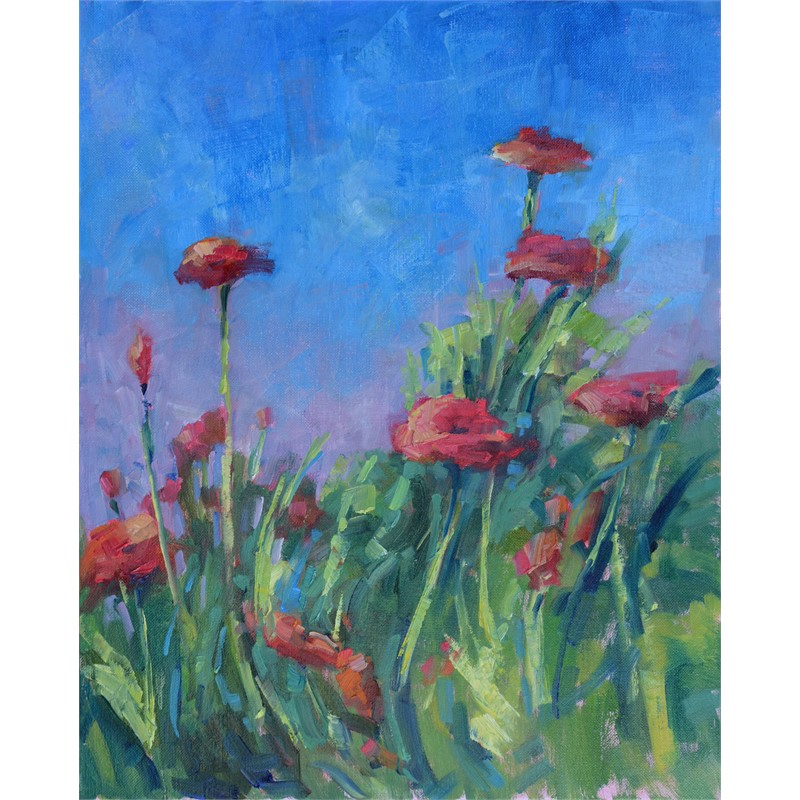 Blue Sky Poppies