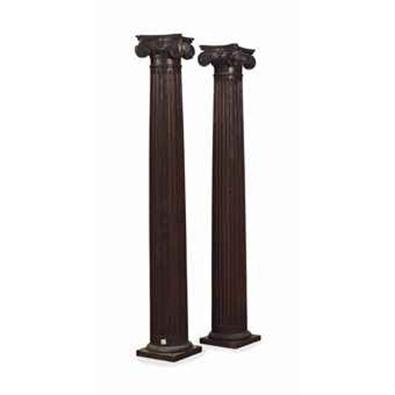 PAIR OF CONTINENTAL OAK COLUMNS